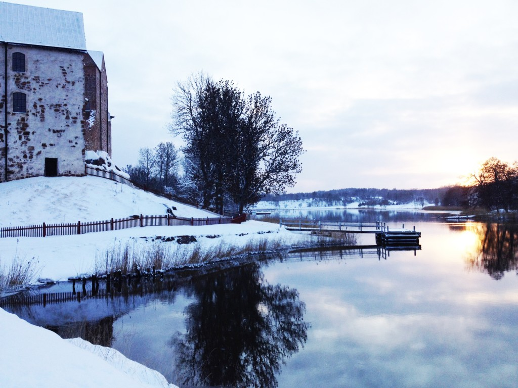 Vinterbild vid Kastellholms slott